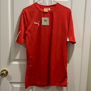 NWT Puma Red Athletic Tee Mens Size M